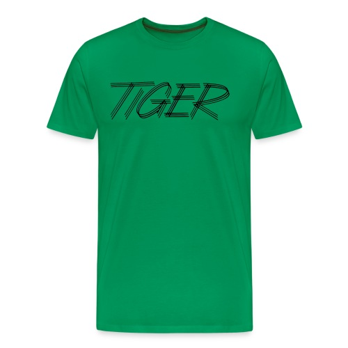 Men's Tiger Script on Front - Men's Premium T-Shirt
