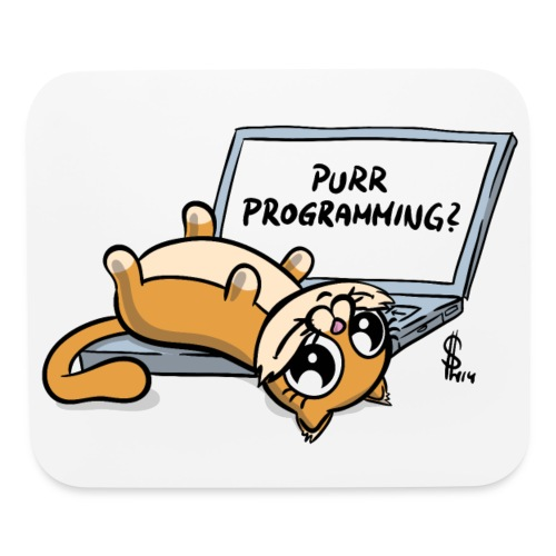 Purr programming mouse pad - Mouse pad Horizontal
