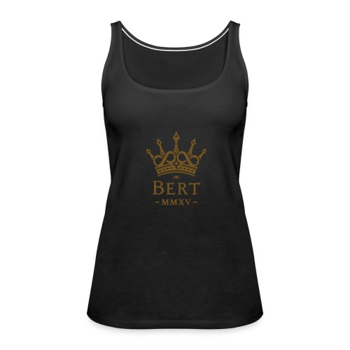 QueenBert 2015-Gold Glitter - Women's Premium Tank Top