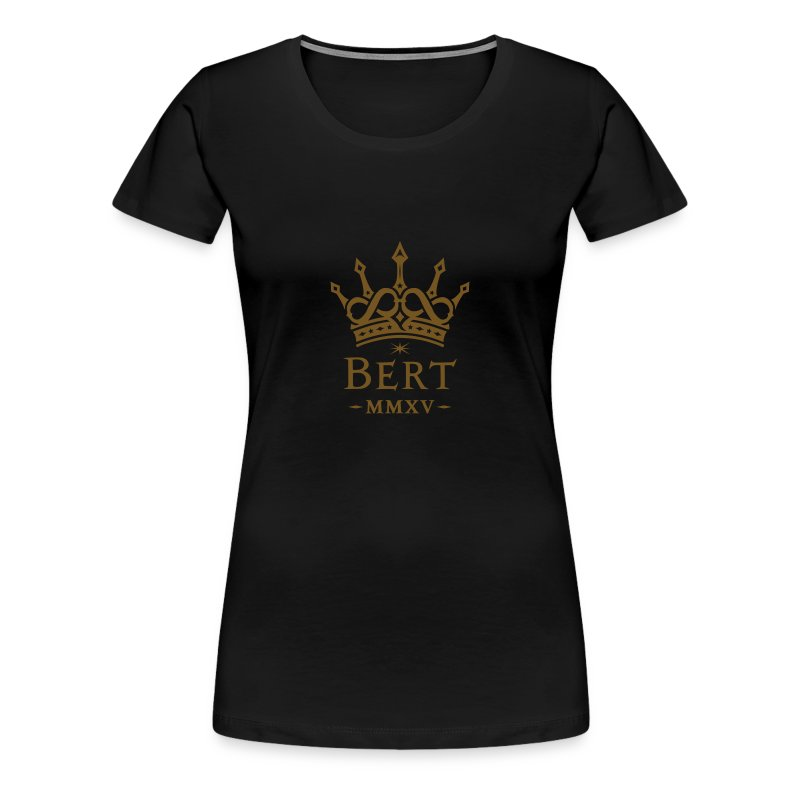 QueenBert 2015-Gold Glitter - Women's Premium T-Shirt