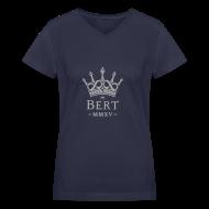 T-Shirts ~ Women's V-Neck T-Shirt ~ QueenBert 2015-Silver Glitter