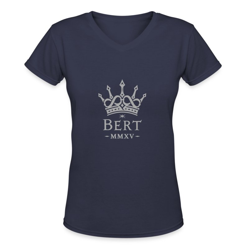 QueenBert 2015-Silver Glitter - Women's V-Neck T-Shirt