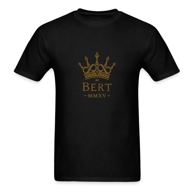 QueenBert 2015-Gold Glitter - Men's T-Shirt
