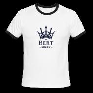 T-Shirts ~ Men's Ringer T-Shirt ~ QueenBert 2015-Black Glitter
