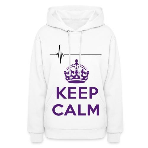 keep calm heart beat  - Women's Hoodie