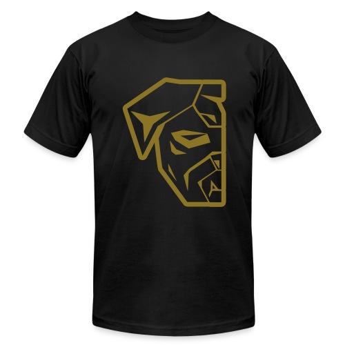 Smooth Metallic GOLD Half-Logo T-Shirt - Men's Fine Jersey T-Shirt