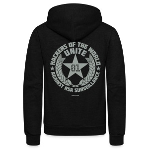 Hackers of the world unite!  - Unisex Fleece Zip Hoodie