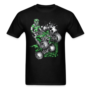 Kawasaki ATV Quad Grunge - Men's T-Shirt