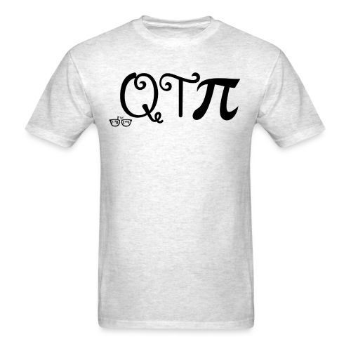 QTpi black writing - Men's T-Shirt