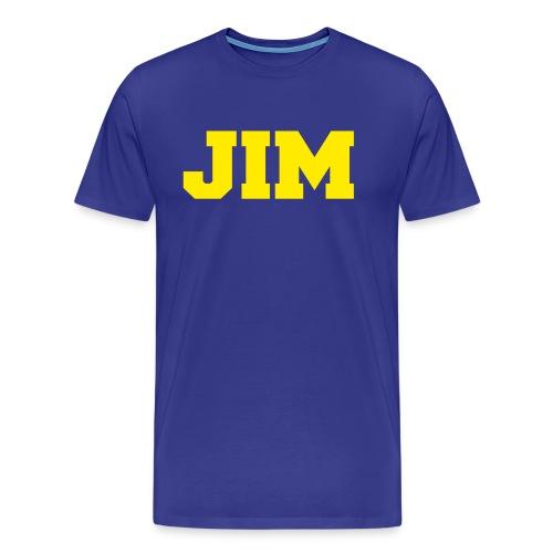 Jim Harbaugh Jim - Blue - Men's Premium T-Shirt