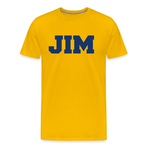 Jim Harbaugh Jim - Yellow - Men's Premium T-Shirt
