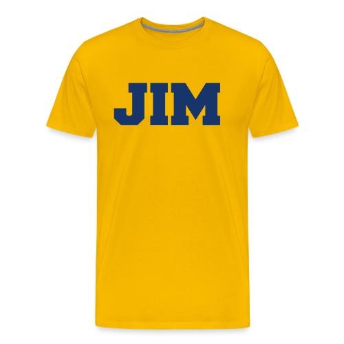 Jim Harbaugh Jim - Yellow - Men's Premium T-Shirt