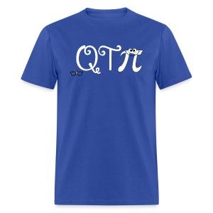 QTpi white writing - Men's T-Shirt