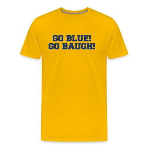 Jim Harbaugh Go Baugh! - Yellow - Men's Premium T-Shirt