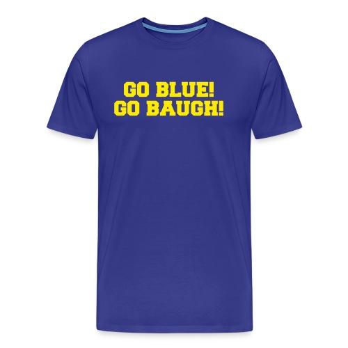 Jim Harbaugh Go Baugh! - Blue - Men's Premium T-Shirt