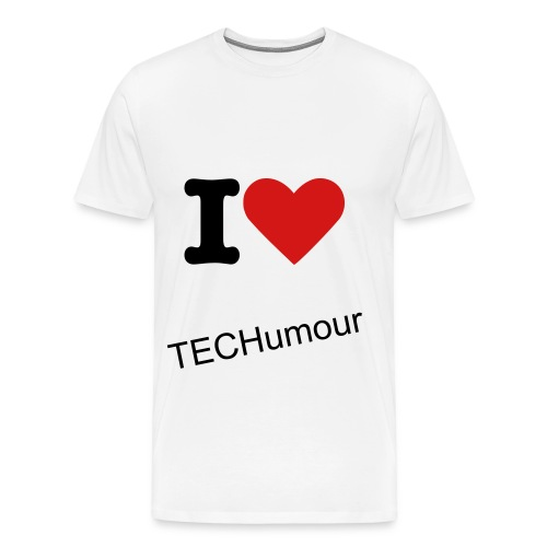 I love TECHumour tee - Men's Premium T-Shirt