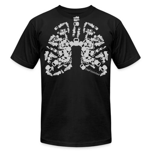 WOD Lungs Grey - Men's Fine Jersey T-Shirt