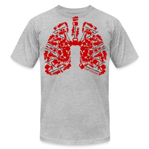 WOD Lungs Red - Men's T-Shirt by American Apparel