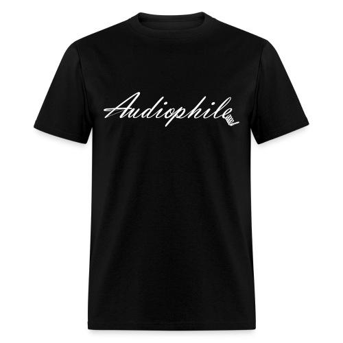 Audiophile Black - Men's T-Shirt