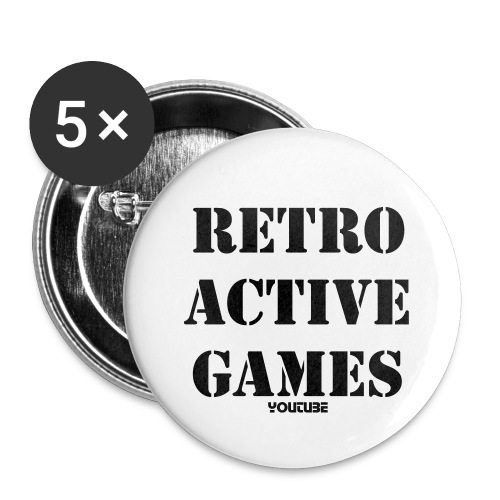 RETRO PINS 5  - Buttons small 1'' (5-pack)