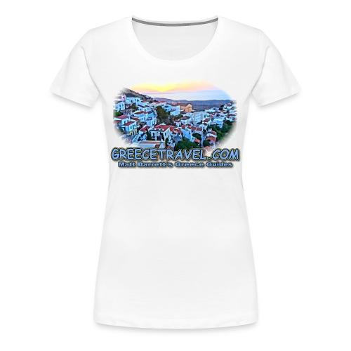 GREECETRAVEL SUNSET (women) - Women's Premium T-Shirt