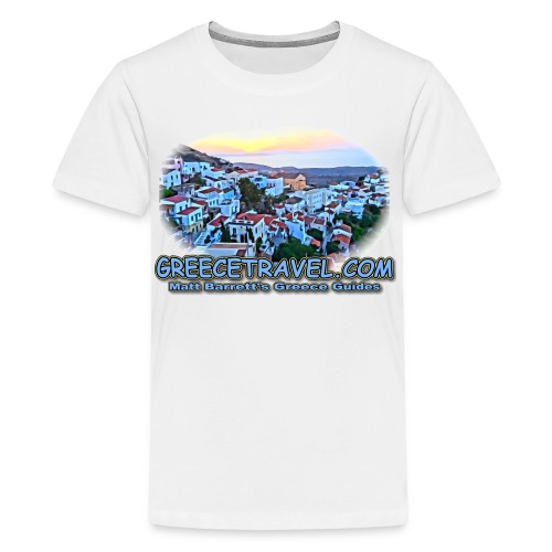 GREECETRAVEL SUNSET (kids) - Kids' Premium T-Shirt