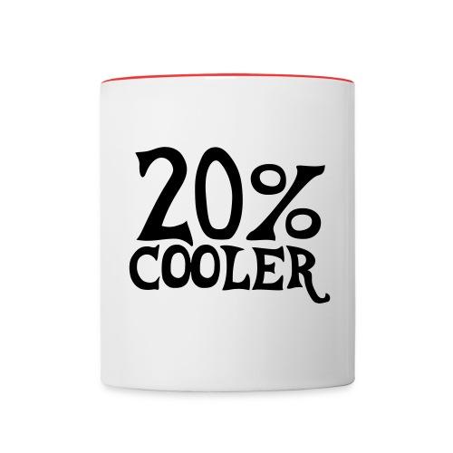 20% cooler mug - Contrast Coffee Mug