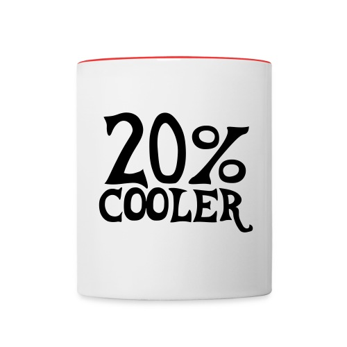 20% cooler mug - Contrast Coffee Mug