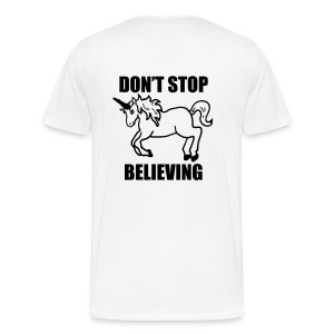 Don't stop beliving Unicorn T-shirt - Men's Premium T-Shirt