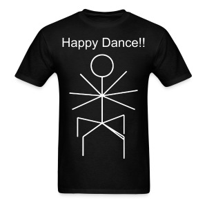 Happy Dance (Men's Text) - Men's T-Shirt