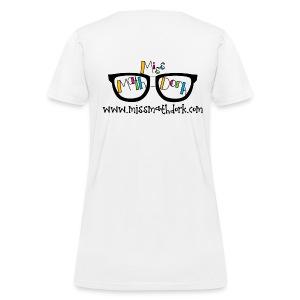 MissMathDork logo tee - Women's T-Shirt
