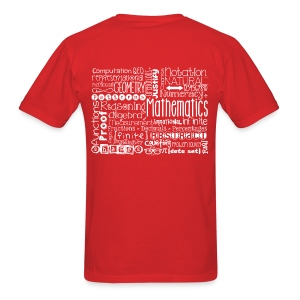Math Subway Art (white letters) - Men's T-Shirt
