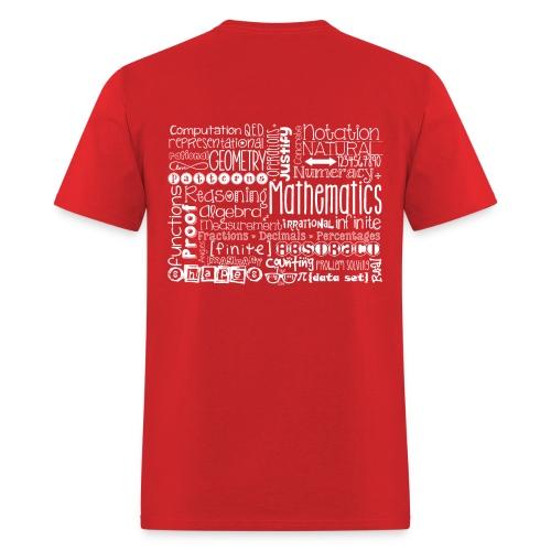 Math Subway Art (white letters) - Men's T-Shirt