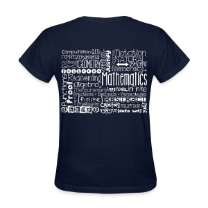 Math Subway Art (white letters) - Women's T-Shirt
