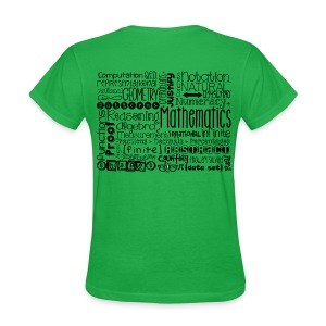 Math Subway Art (black letters) - Women's T-Shirt