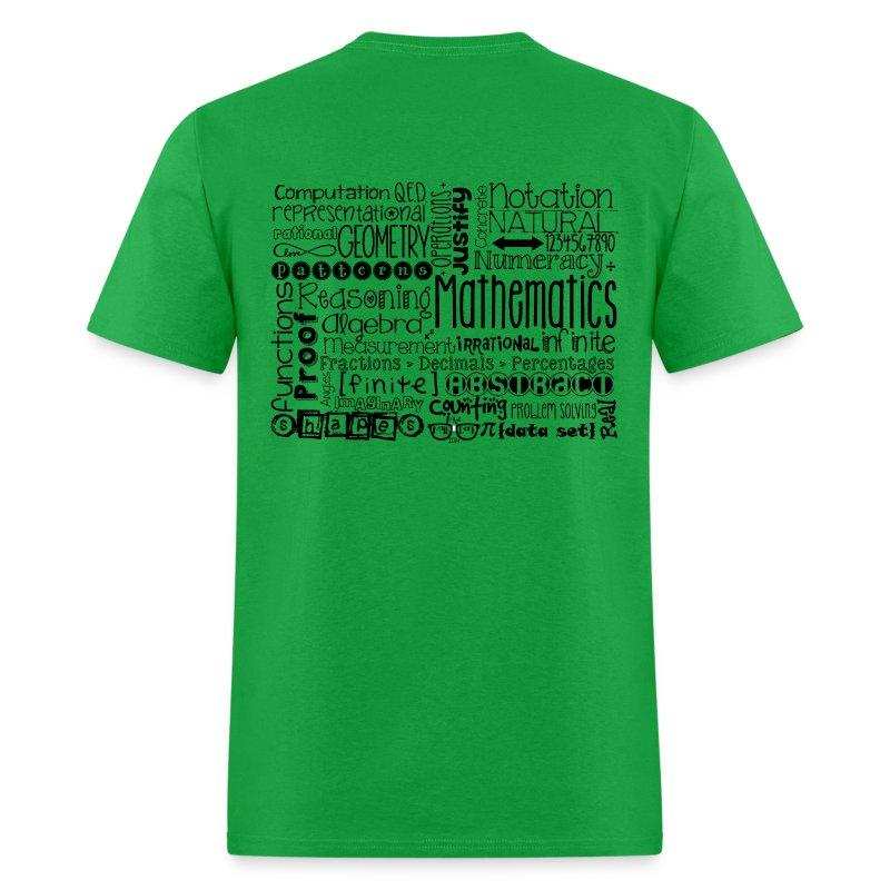 Math Subway Art (black letters) - Men's T-Shirt