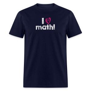 I heart math (white letters) - Men's T-Shirt