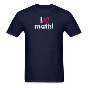 I heart math (white letters) - Men's T-Shirt