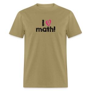 I heart math (black letters) - Men's T-Shirt
