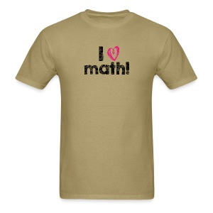 I heart math (black letters) - Men's T-Shirt