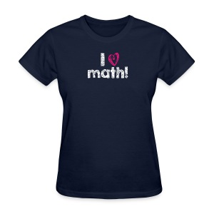 I heart math (white letters) - Women's T-Shirt