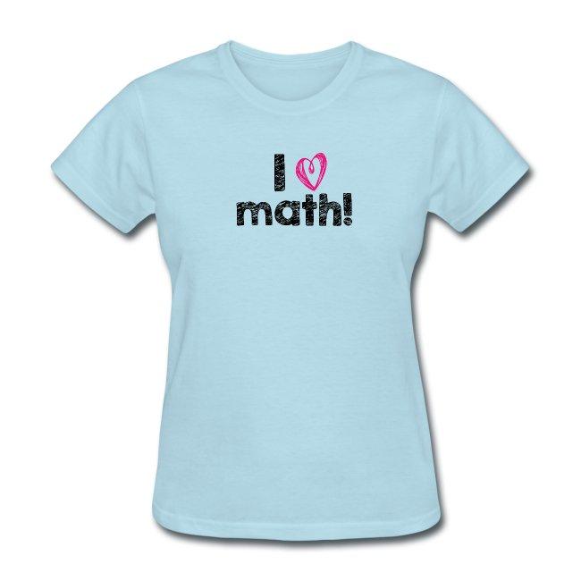I heart math (black letters)