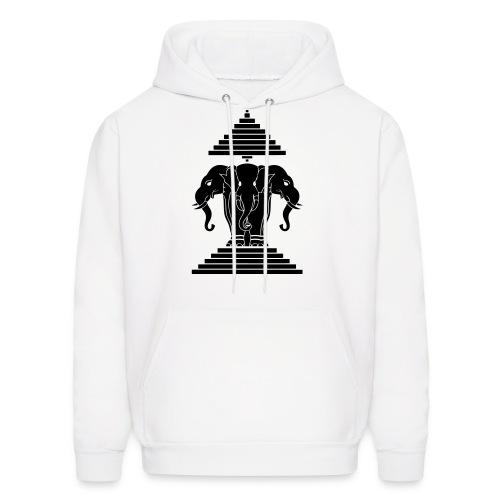 black and white mens egypt elephant hoodie - Men's Hoodie