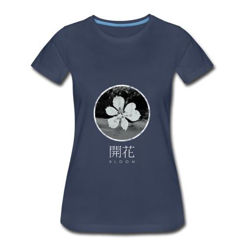 Bloom (Navy) - Women's Premium T-Shirt