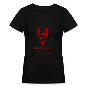 Black Womens V-Neck - Women's V-Neck T-Shirt