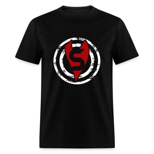 Unisex Bullseye Red and White - No Name - Men's T-Shirt