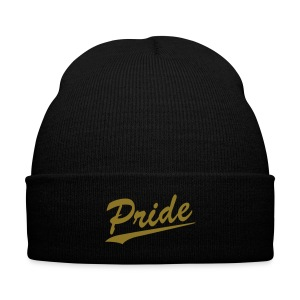 PRIDE KNIT HAT  - Knit Cap with Cuff Print