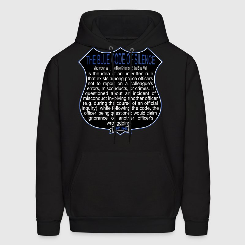 Bad Cops Blue Code of Silence T-Shirt Shield Graph - Men's Hoodie