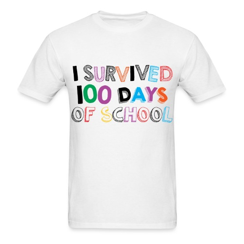 I survived 100 days of school-Men - Men's T-Shirt