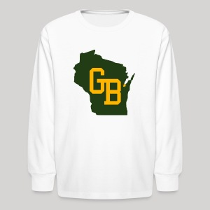 GB - Wisconsin - Kids' Long Sleeve T-Shirt